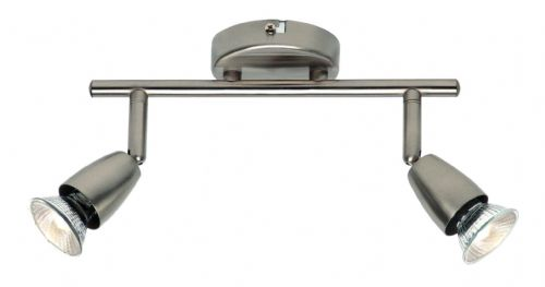 Satin nickel effect plate Spotlight G2521313 by Endon